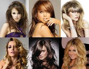 Разнообразие челок и причесок на средние волосы