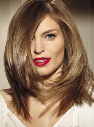 Фото красивых стрижек на средние волосы