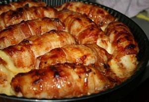 Фаршированные куринные грудки с беконом