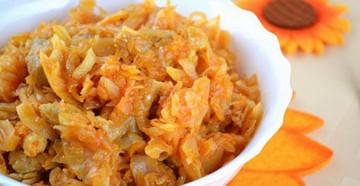 рецепты как тушить капусту