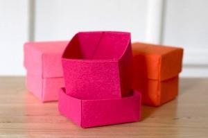 Фетровая коробочка для подарков