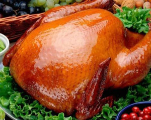 Курица в духовке фаршированная рисом