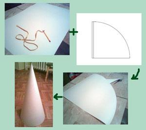 Хитрости изготовления конуса из бумаги