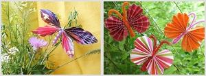 Поделки бабочки из цветной бумаги