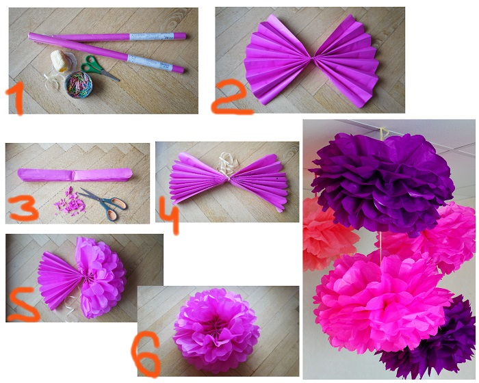 объемные цветы из гофрированной бумаги своими руками пошаговая инструкция