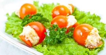 помидоры фаршированные сыром и чесноком вкусно и просто