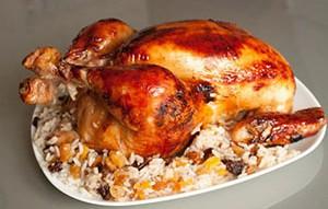 Рецепт курица фаршированная рисом и черносливом
