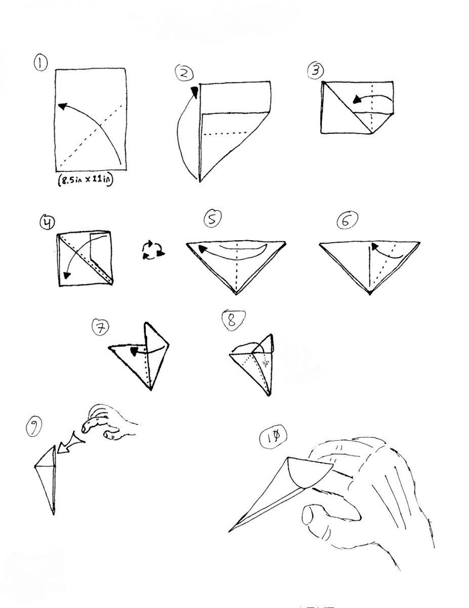 Как из бумаги сделать когти дракона