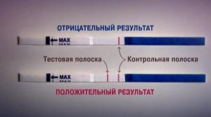 Тест на беременность бледная полоска