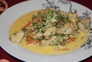 Филе в сметанном соусе
