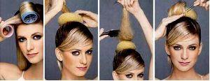 Собираем средние волосы в прическу