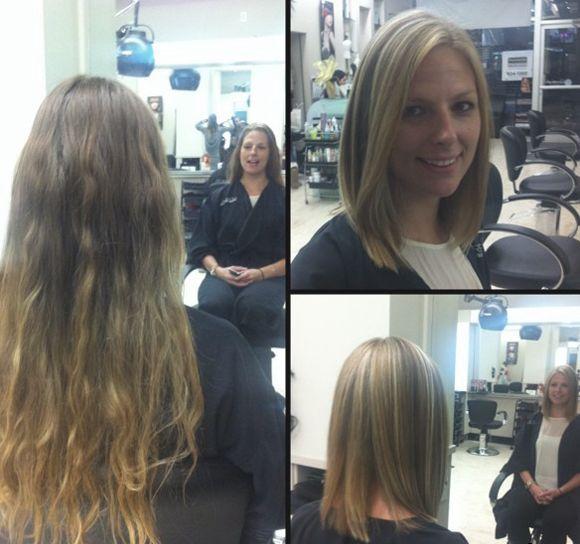 стрижка каре на тонкие волосы фото до и после