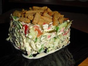 рецепт салата с кириешками обжорка