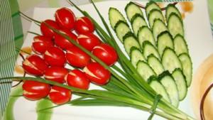 Тюльпаны с брынзой и чесноком ингредиенты блюда