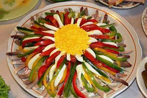 Праздничное украшение салатов