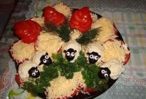 Рецепт салата с плавленым сырком