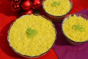 Приготовление блюда мимоза