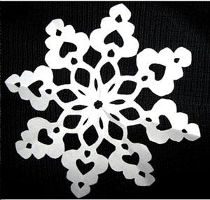 Восьмигранные снежинки из бумаги