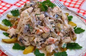 Салат мясной диетический