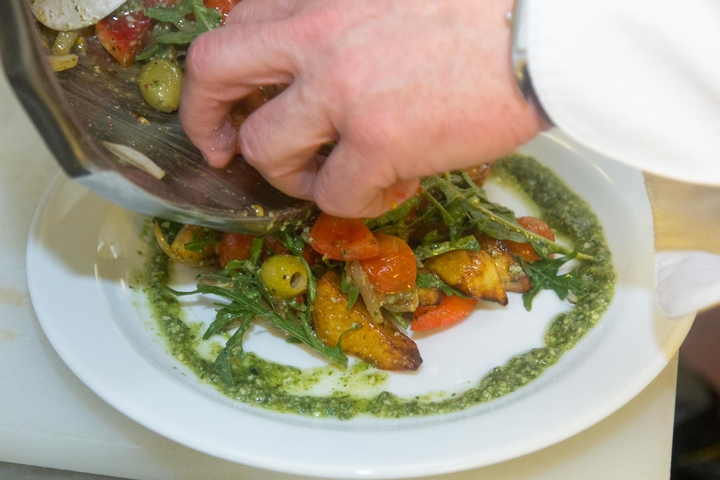 Простой салат с мясом