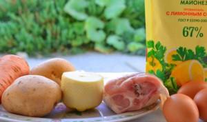 Возможные ингредиенты для салата