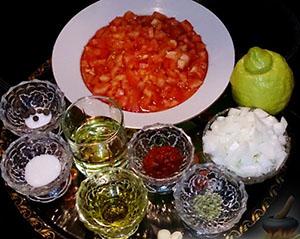 Ингредиенты для маринада к фаршированным кальмарам