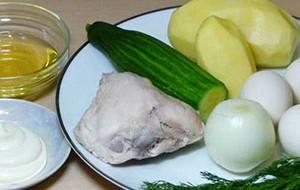 Ингредиенты для салата гнездо глухаря