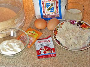 Ингредиенты для теста ватрушки с творогом