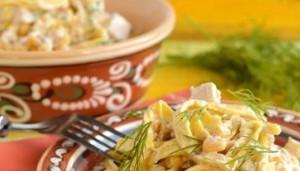 Ингредиенты для салата из блинов