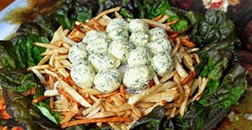 классический рецепт салата гнездо глухаря с пошаговой фото инструкцией