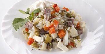 классический рецепт салата столичный с добавкой различного мяса
