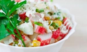 Как вкусно готовить салат крабовый