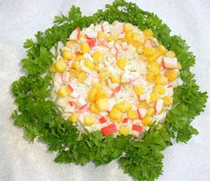 Как сделать крабовый салат
