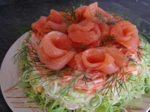 Салатик с креветками