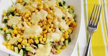 салат с куриной грудкой и кукурузой к ужину