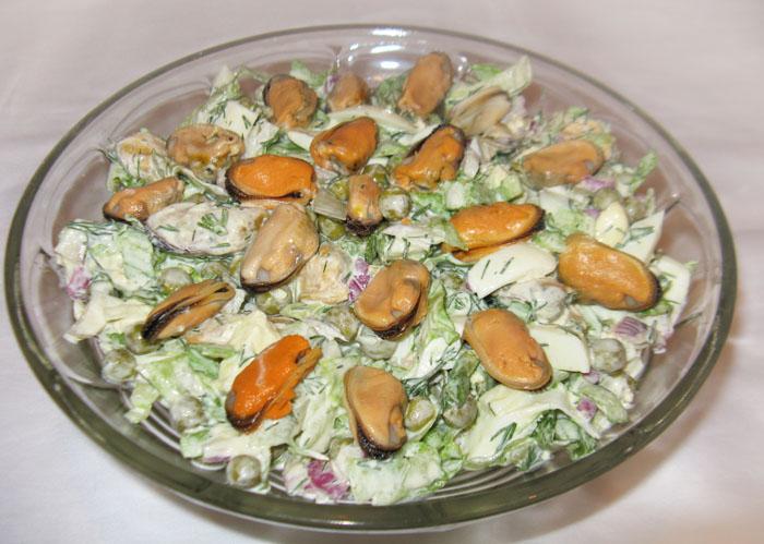 Салаты с мидиями рецепты простые и вкусные