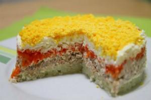 Салат мимоза рецепт с сардиной и яйцом