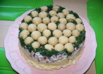 грибной салат лесная поляна с шампиньонами вкусно сытно красиво