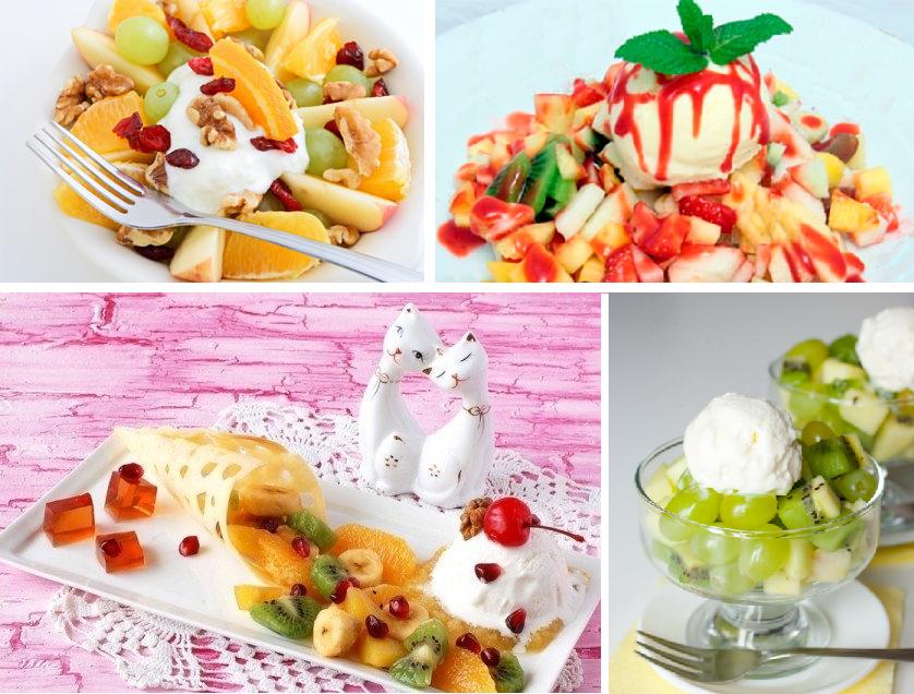 Вкусный салат с мороженым