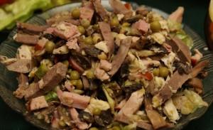 Мясной салат рецепт классический