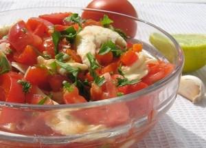 Вкусный салат с томатами