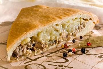 рецепт рыбного пирога с сайрой и картошкой