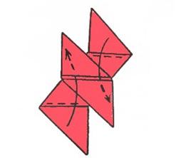 Схема сюрикена из бумаги
