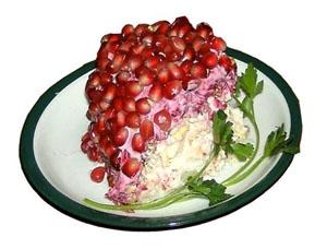 Пошаговый рецепт приготовления салата гранатовый браслет