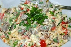 Рецепт салата мясного с говядиной