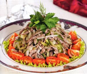 мясной салат из говядины рецепт