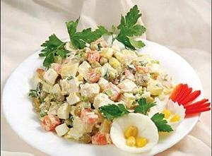 Рецепт салата столичный с добавкой говядины