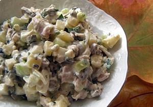 Рецепт салата столичный с добавкой любого мяса