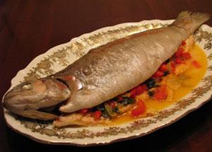 Рыбина для запекания со сладкой начинкой