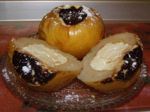 яблоки запеченные в микроволновке с творогом и медом